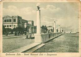 GIULIANOVA LIDO. L'HOTEL KURSAAL LIDO E IL LUNGOMARE. BELLA CARTOLINA ANNI '40 - Italia