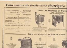 Affiche Lessiveuse MELIOR Burnick Chausse De Wavre à Jandrain Lessive 43x35cm - Affiches
