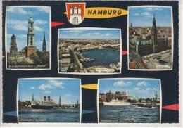 """HAMBURG - Mehrfachansicht M. """"Hanseatic"""" Im Hafen, Seebäderschiff """"Bunte Kuh"""" ..... - Otros"""