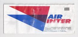 Billet d'avion Air Inter. ( Voir commenaires)