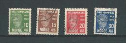 Norvège: 141/ 144 Oblit - Norwegen