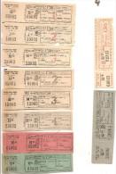 """Tr�s belle s�rie de tickets des """"Tramways Bruxellois"""" lignes 16-30."""