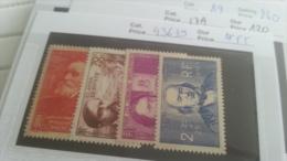 LOT 219961 TIMBRE DE FRANCE NEUF** N�436 A 439 VALEUR 55 EUROS