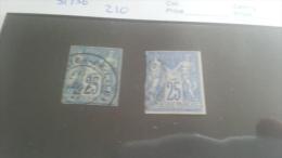 LOT 220016 TIMBRE DE COLONIE GENERALE OBLITERE N�35/36 VALEUR 210 EUROS