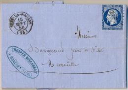 4cp-135: Lettre 20c: SUZE-LA-ROUSSE (25)  > Marseille - 1853-1860 Napoleon III