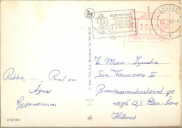 4cp-138: P3003 : BRUGGE X 10-7-84: MARINEBASIS ZEEBRUGGE VLOOTDAGEB 3° W.E.JULI > Holland Met Bonjour Uit De Ardennen... - Postage Labels