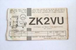 QSL RADIO AMATEUR CARD- NEW ZEELAND NIUE - Radio Amateur