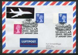 "Großbritannien 2004 Schiffspost,Postal Cover UP-Helly-aA Mit  U.SST""Up-Helly-aA,Lerwick -Shetland ""1 Beleg Used,bef. - Groot-Brittannië"