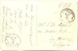 _G991:LUFTKURORT CLEVE...S.M.. Verstuurd  8 PMB 8 BLP 16 IV 19  > Les Moeres Belge:  VEURNE FURNES 18 IV 19 - Postmark Collection