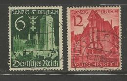 DEUTSCHES REICH, 1939, Used Stamp(s) Danzig Ist Deutsch, MI 714-715, #16133 - Germany
