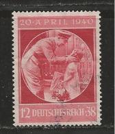 DEUTSCHES REICH, 1940, Used Stamp(s) Hitler's Birthday,  MI 744, #16138, - Germany