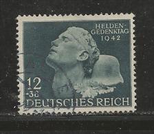 DEUTSCHES REICH, 1942, Used  Stamp(s), Heroes ,  MI 812, #16159 - Germany