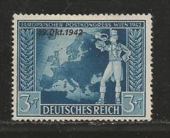 DEUTSCHES REICH, 1942, Mint Hinged  Stamp(s), European Postal Congress  MI 823, #16165 , - Unused Stamps