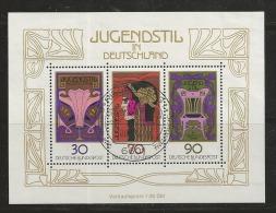GERMANY, 1977, Used Block  Of Stamp(s), Jugendstill,  MI Bl14, #16240 , - [7] Federal Republic