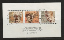 GERMANY, 1978, Used Block  Of Stamp(s), Nobel Prize Winners,  MI Bl16, #16241 , - [7] Federal Republic