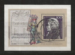 GERMANY, 1991, Used Block  Of Stamp(s),  Mozart,  MI Bl26, #16246 , - [7] Federal Republic