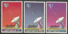 Jamaica. 1972 Opening Of Jamaican Earth Satellite Station. MH Complete Set. SG 341-3 - Jamaica (1962-...)