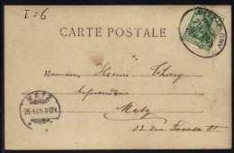 METZ - PAGNY - LORRAINE / 1905 AMBULANT SUR CARTE POSTALE /2 IMAGES  (ref 5661) - Elsass-Lothringen
