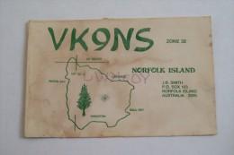 QSL RADIO AMATEUR CARD-NORFOLK ISLAND, AUSTRALIA - Radio Amateur
