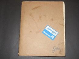 Manuscript boek - Vacantie Logboek -16/6 - 8/9/49 - door Tjakko M. Schuringa. Boschdyk 465 Eindhoven