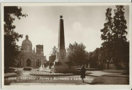 VERCELLI -DUOMO E MONUMENTO A CARLO ALBERTO -FP - Vercelli