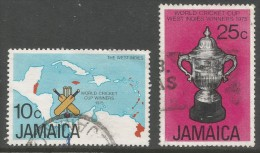 Jamaica. 1975 West Indian Victory In World Cricket Cup. Used Complete Set. SG 419-20 - Jamaica (1962-...)