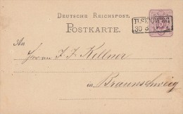 DR Ganzsache Nachv. Stempel Ilsenburg 30.8. - Deutschland