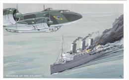 Artist Drawn Focke Wulf FW 200 On Patrol Postcard (AM2111) - 1939-1945: 2nd War