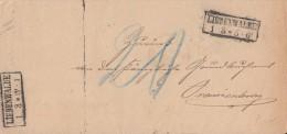 DR Brief Liebenwalde 1.3.78 Gel. Nach Oranienburg - Deutschland