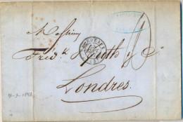 N357: Lettre 10c: BORDEAUX   >  LONDRES - 1801-1848: Precursors XIX