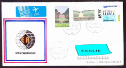 Netherlands On Air Mail Cover To South Africa - 1989 (1980) - Promotion Of Nature Preseves, Royal Dutch Swimming Federat - Period 1980-... (Beatrix)