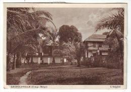 9-        CONGO  BELGE  Carte de L�opoldville avec n�  96 et 106 1924