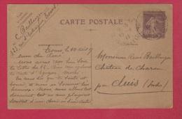 Carte Postale //  DeTours //  Pour Cluis //  14 Août 1927  // - 1921-1960: Modern Tijdperk