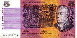 AUSTRALIA 1990 $5 Banknote Fraser/Higgins (no Tears) - Emissions Gouvernementales Décimales 1966-...