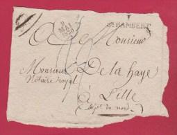 Face Avant D'Enveloppe  //  De Saint Rambert  //  Pour Lille //  9 Mai 1830 - Storia Postale