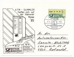 ALLEMAGNE - 3 Cartes Foire De Hanovre (Hannover Messe) 1985 - Affranchissements Vignettes - ATM - Frama (Verschlussmarken)