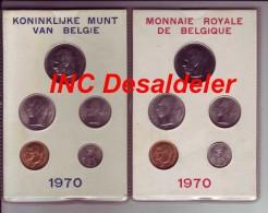 Fleur de coin de belgique FDC fran�ais,flamand Baudouin 1970