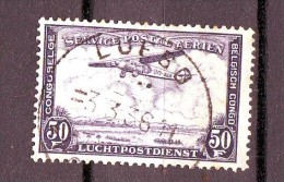 9-        CONGO  BELGE   Poste a�rienne n� 15  oblit�r�