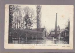 Crosnes - Le Moulin Pendant Les Inondations De Janvier 1910 - Voir état - Crosnes (Crosne)