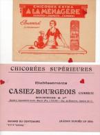 ZE-BUVARD-LOT 1- Lot De 5 Buvards Sur La Chicorée -CAMBRAI : Casiez-Bourgeois--Arlatte --Socorée--A La Ménagère - Buvards, Protège-cahiers Illustrés