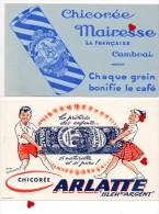 ZE-BUVARD-LOT 2-Lot De 5 Buvards Sur La Chicorée-CAMBRAI : Casiez-Bourgeois--Arlatte --Socorée--Protez-Delatre --Mairess - Buvards, Protège-cahiers Illustrés