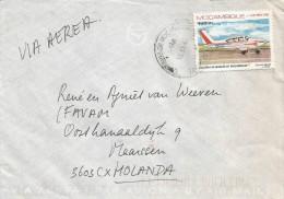 Mozambique 1988 Maputo airplane cover