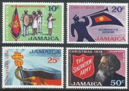 Jamaica. 1978 Christmas. Centenary Of The Salvation Army. MH Complete Set. SG 456-9 - Jamaica (1962-...)