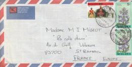 Malawi Lettre Avec Correspondance Capital City 1983 Pour France St Raphael        Tda17 - Malawi (1964-...)