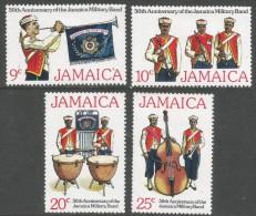 Jamaica. 1977 50th Anniv Of Jamaican Military Brass Band. MH Complete Set. SG 438-41 - Jamaica (1962-...)