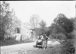 PN 000 - MOTO Side-Car - Plaque Photo Très Rare à Ne Pas Manquer - Glasdias