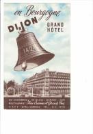 21 En Bourgogne - La Cloche Le Grand Hotel Dijon - Direction Gorges Carrefour Européen Distances Km Carte Géographique - Dijon