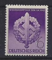 Germany 1942  Wehrkampftage (**) MNH  Mi.818 - Germany
