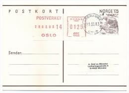 NORVEGE - 4 Entiers Postaux Avec Affranchissement Complémentaire Vignette - 1983 - Entiers Postaux