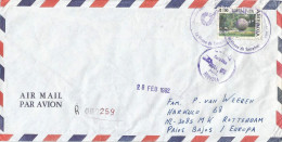 Costa Rica 1992 Heredia Art Scupture Garden Registered Cover With Registration Slip - Costa Rica